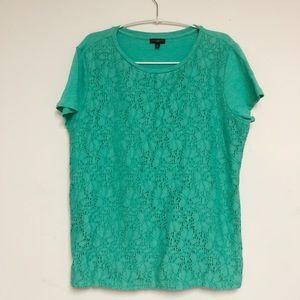Talbots Half Sleeve Lace Top